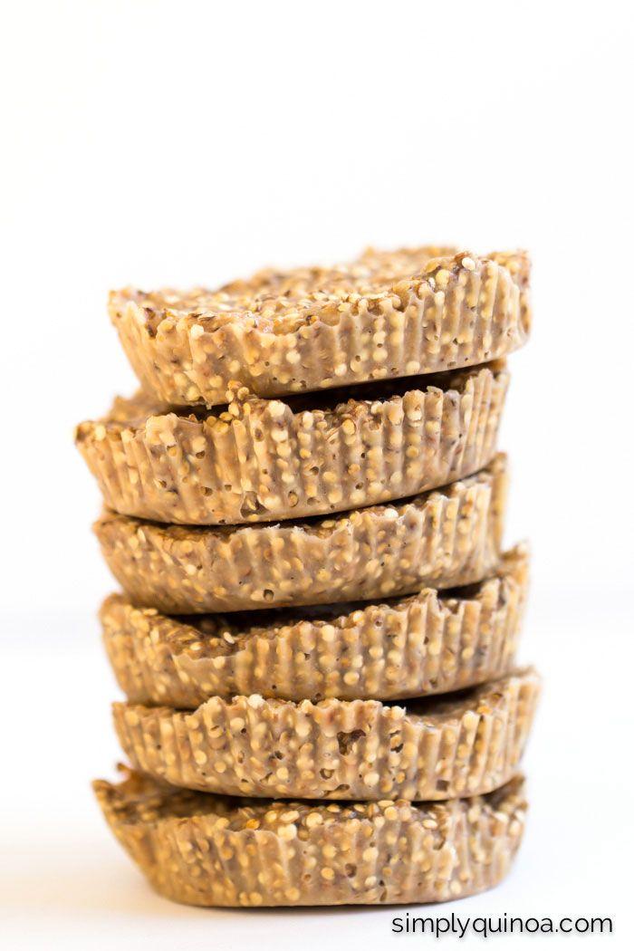 Crunchy Toasted Coconut Butter Quinoa Bites via Simply Quinoa