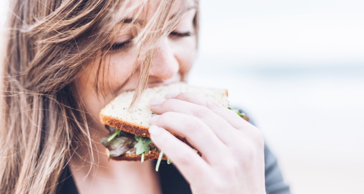 Intuitive eating means not feeling guilty about the food you eat.
