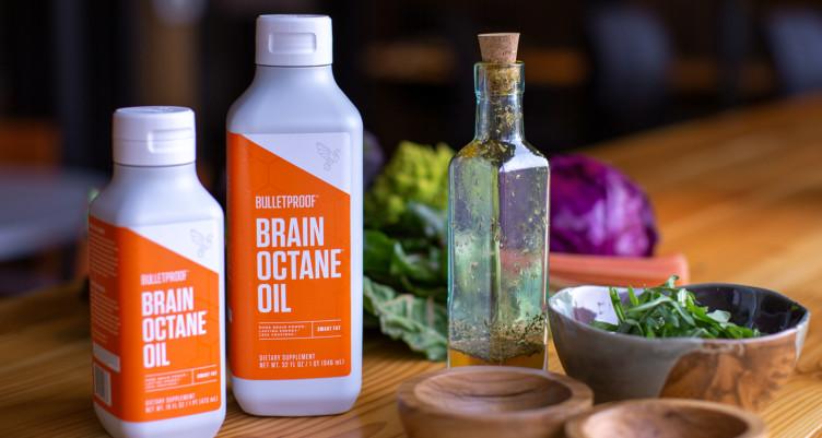 MCT oil in salad dressing using Brain Octane oil