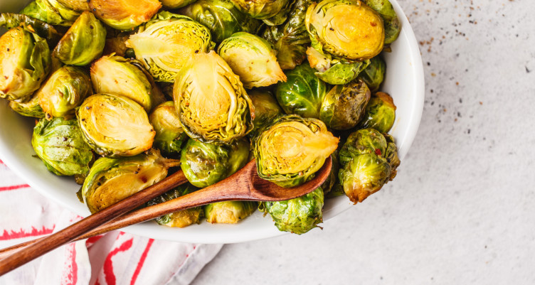 MCT oil roasted brussels sprouts