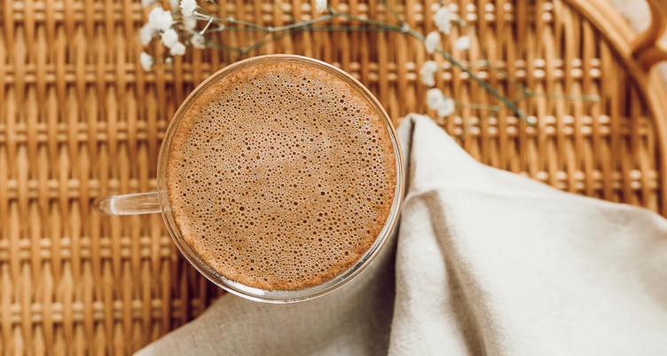 a frothy cup of bulletproof coffee