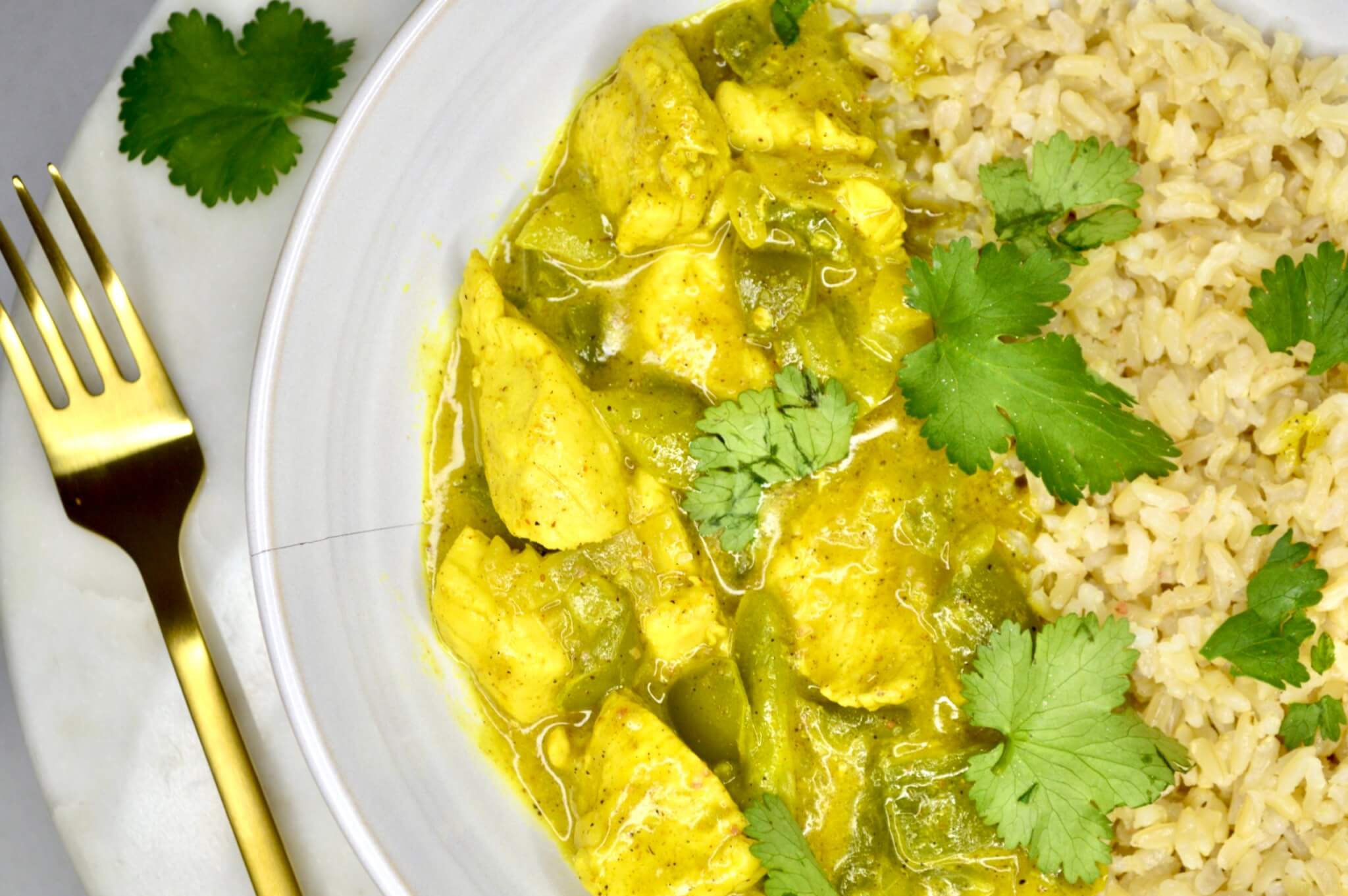 chicken curry, Low-FODMAP Thai Coconut Chicken Curry